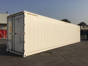 40'HC Cold Storage Refrigerated Container with Shelf & Curtain